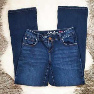 INC Denim Boot Leg Curvy Fit Jeans Sz 4S